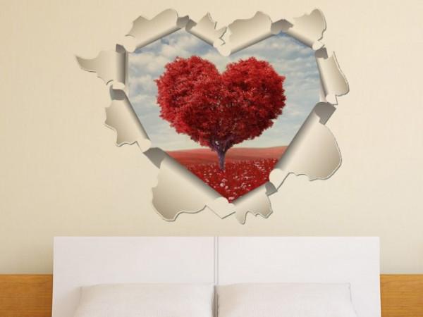 Sticker De Perete Copac Inima 3d