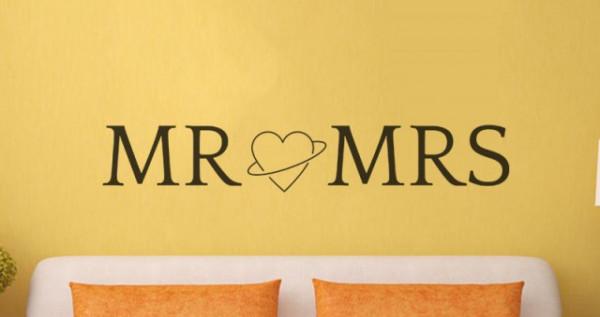 Sticker De Perete Mr. & Mrs.