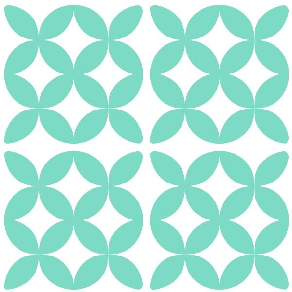 Sticker decorativ imitatie faianta model semicerc