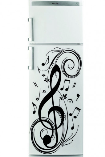 Sticker frigider - muzica 01