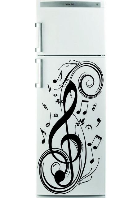 Sticker Frigider - Muzica