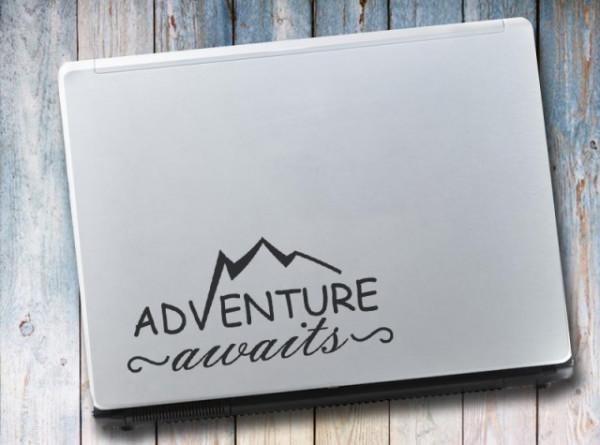 Sticker laptop - Aventure awaits