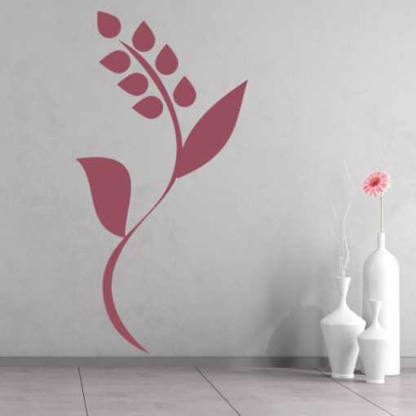 Sticker Simple Flower Floral Stem