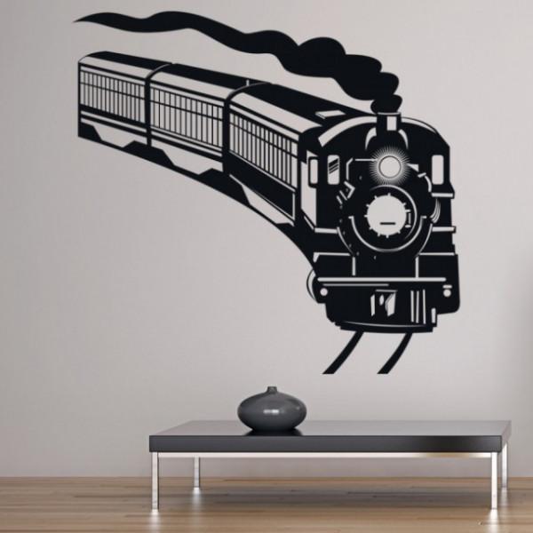 Sticker Steam Train Transport