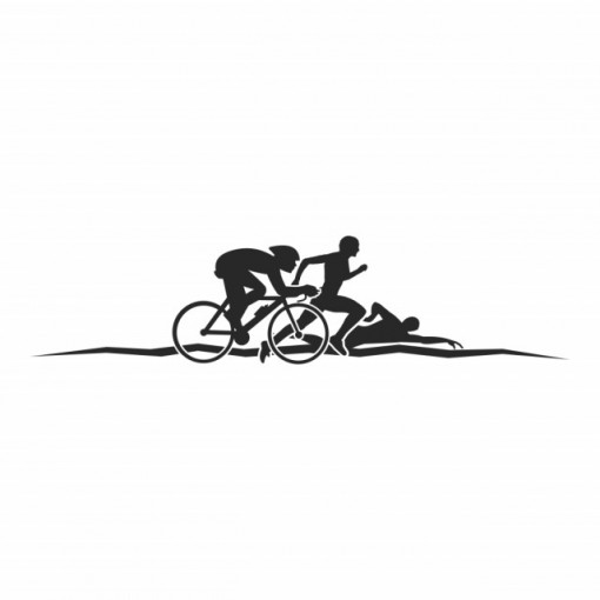 Sticker Triathlon Run Swim Cycle
