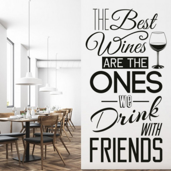 Sticker Wine With Friends
