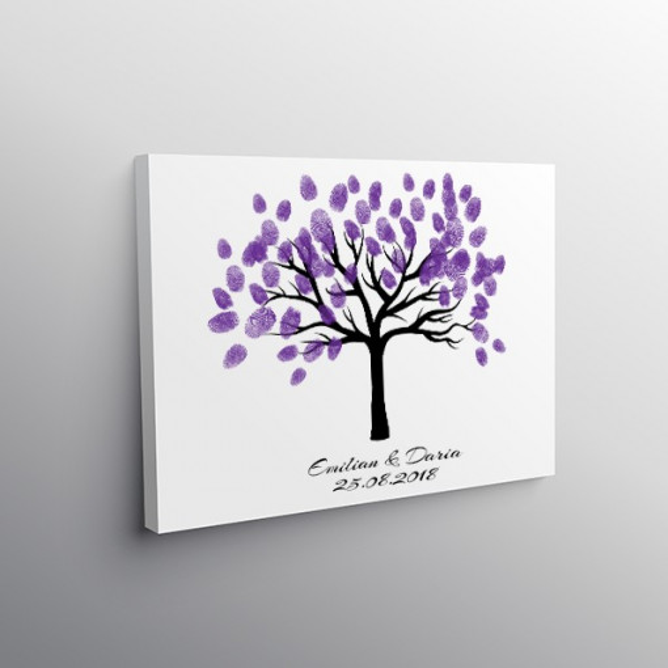 Tablou Canvas Finger Print Tree Tall