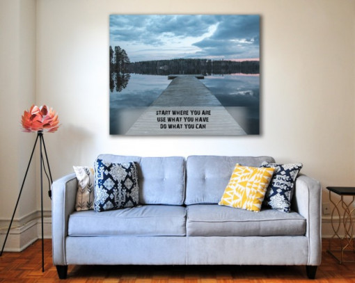 Tablou canvas motivational - Start Where You Are