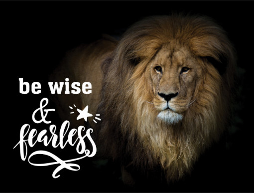 Tablou motivational - Be wise and fearless