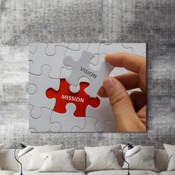 Tablou motivational - Vision and mission