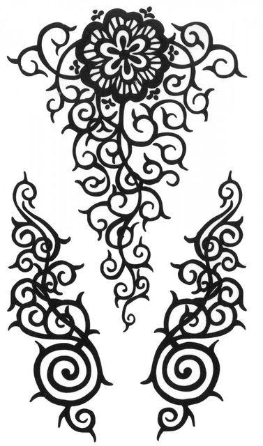 Tatuaj temporar -floare mandala- 10x17cm