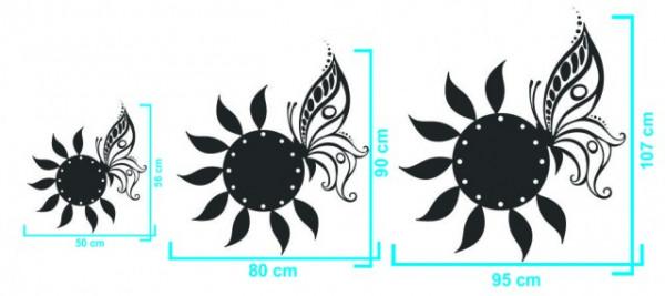 Ceas decorativ Fluture & Floare