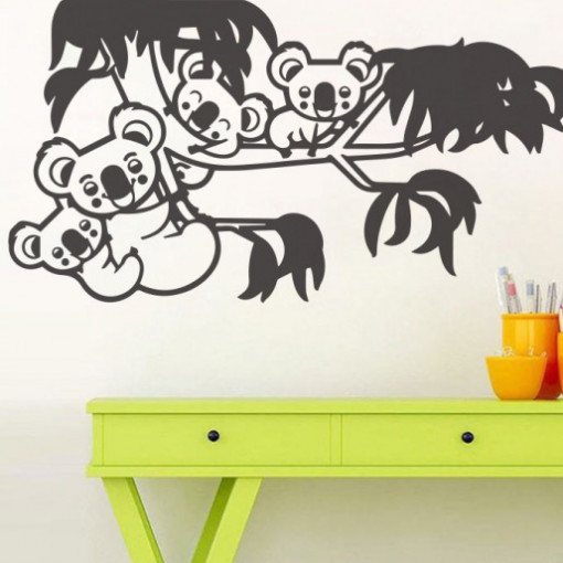 Sticker De Perete Familia De Koala