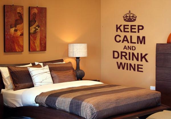 Sticker De Perete Keep Calm And Drink Wine