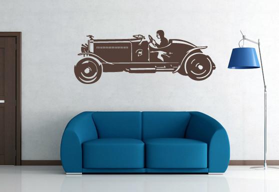 Sticker De Perete Old Car Silhouettes 4