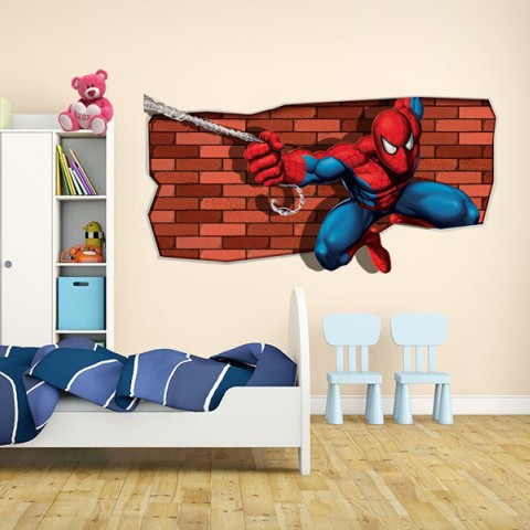 Sticker De Perete Spiderman In Actiune