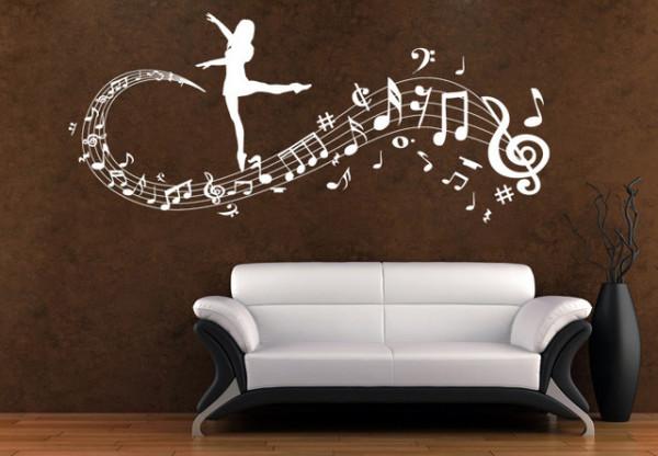 Sticker Note Muzicale Balerina