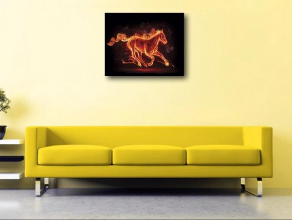 Tablou canvas - abstract cal rosu