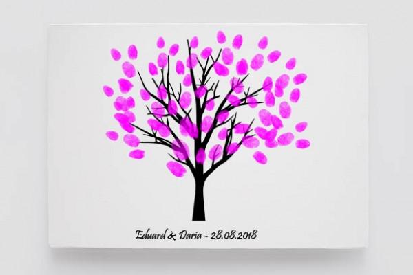 Tablou Canvas Finger Print Tree Fluviu