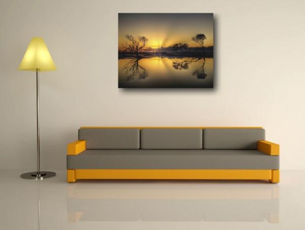 Tablou canvas - Lacul la apus de Soare 03