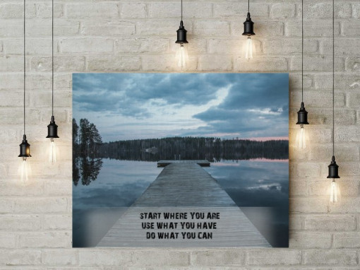 Poze Tablou canvas motivational - Start Where You Are