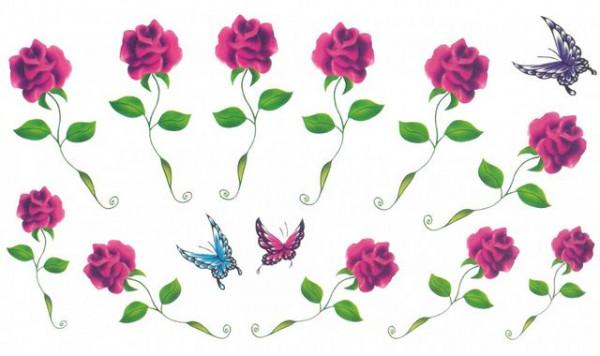 Tatuaj temporar -colectie trandafiri- 17x10cm