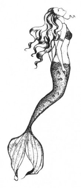 Tatuaj temporar -Mermaid- 6x15cm