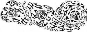 Tatuaj temporar -tribal- 15x40cm