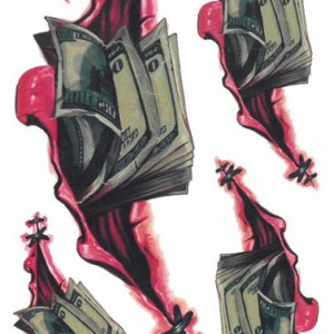 Tatuaj temporar money 17x10cm