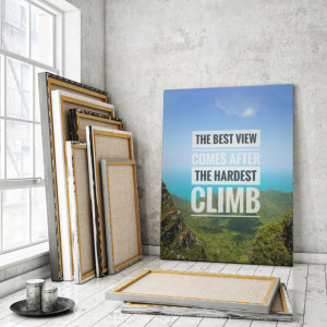 Tablou motivational - The best view
