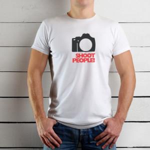 Imprimeu tricou I SHOOT PEOPLE