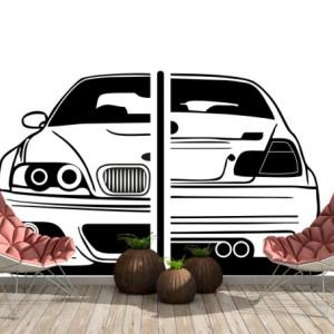 Sticker Auto BMW Vedere Fata-Spate