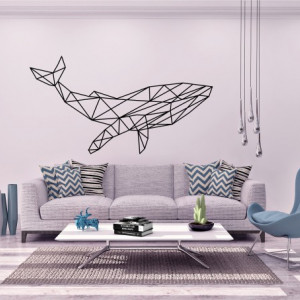 Sticker Balena Artistica din Linii