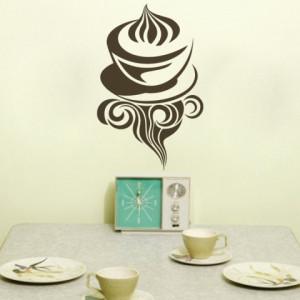 Sticker De Perete Cafea Cu Frisca