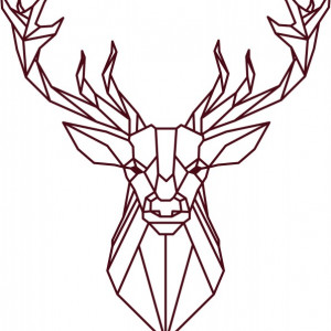 Sticker De Perete Cerb Stilizat