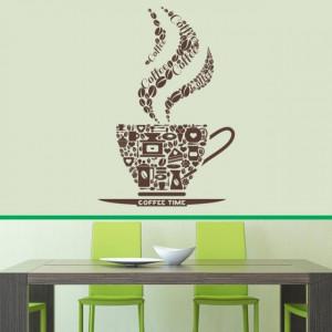 Sticker De Perete Coffee Colaj - Coffee Time