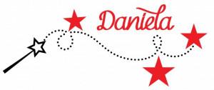 Sticker De Perete Cu Nume - Daniela