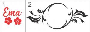 Sticker De Perete Cu Nume - Ema