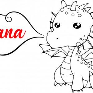 Sticker De Perete Cu Nume - Oana