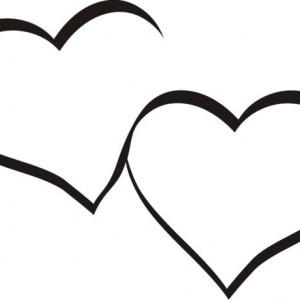 Sticker De Perete Doua Inimi