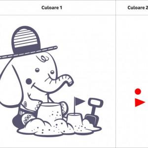Sticker De Perete Elefantel (In Doua Culori)