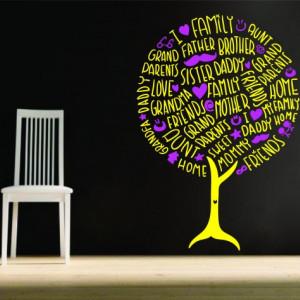 Sticker De Perete Family Tree - Copacul Familiei