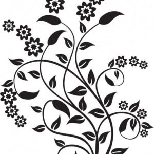Sticker De Perete Flori De Bucatarie