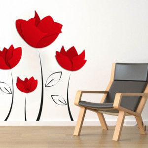 Sticker De Perete Flori Maci