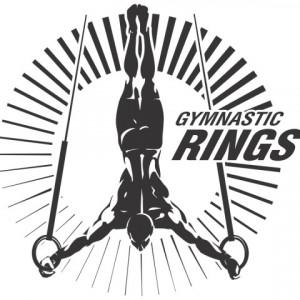 Sticker De Perete Gimnastica Inele