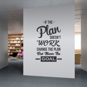Sticker De Perete If The Plan