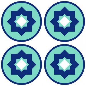 Sticker De Perete Imitatie Faianta Model Rotund