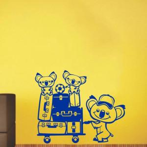 Sticker De Perete Koala Cu Bagaje
