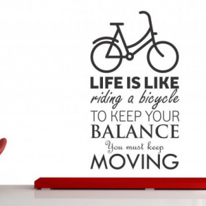 Sticker De Perete Life Is Like Riding A Bicycle