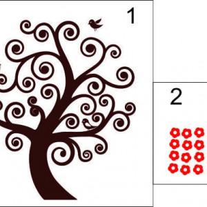 Sticker De Perete Minunatul Arbore Abstract